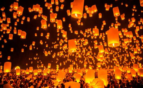 Firework Festival in Chiang Mai Thailand