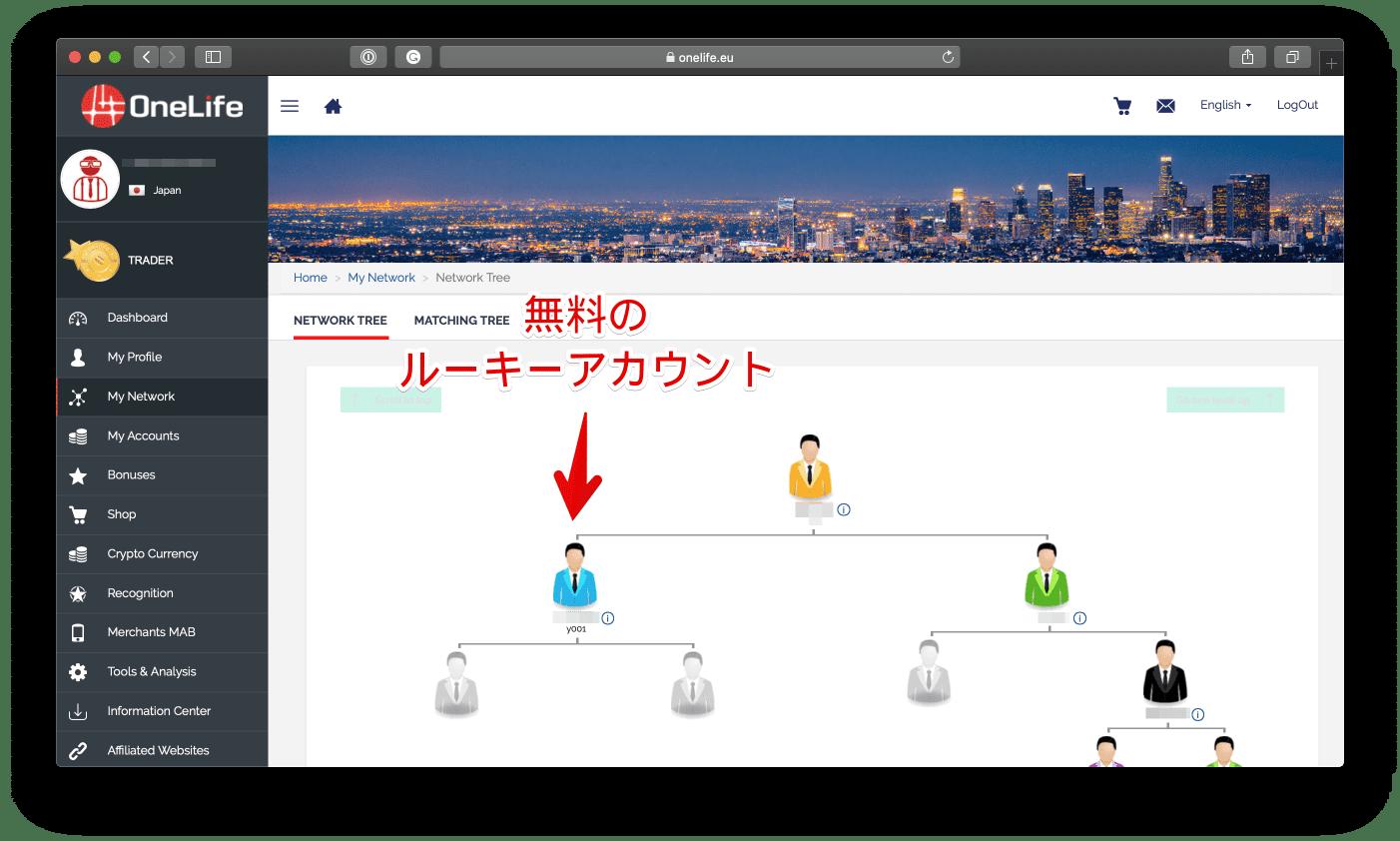 上記の手順で Add Member (メンバーを追加) にクリックしますと、無料のルーキーアカウントが用意されます。